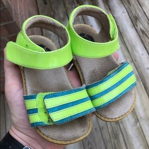Livie & Luca Girls Sandals Size 6 Lime Green Blue